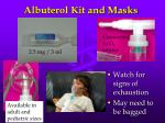 albuterol kit and masks