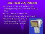 end tidal co 2 detector
