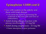 epinephrine 1 1000 cont d