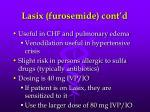 lasix furosemide cont d