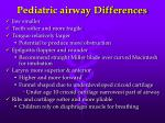 pediatric airway differences