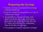 preparing the syringe