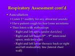 respiratory assessment cont d