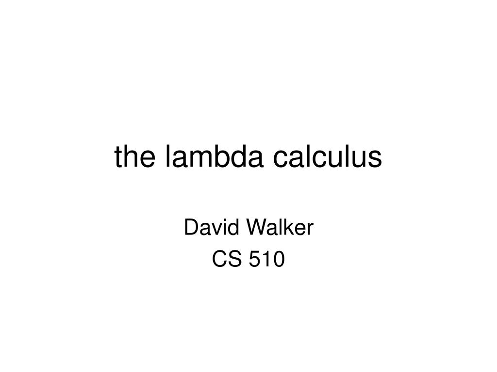 the lambda calculus l.