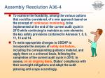 assembly resolution a36 4