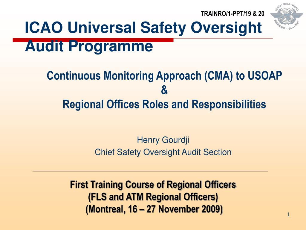 icao universal safety oversight audit programme l.