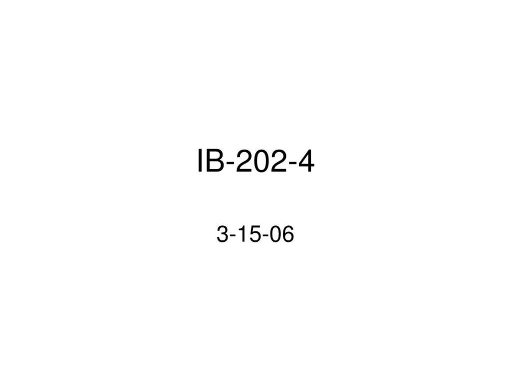 ib 202 4 l.
