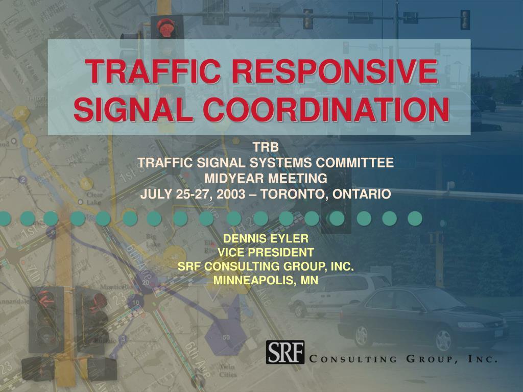 traffic responsive signal coordination l.