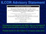 ilcor advisory statement