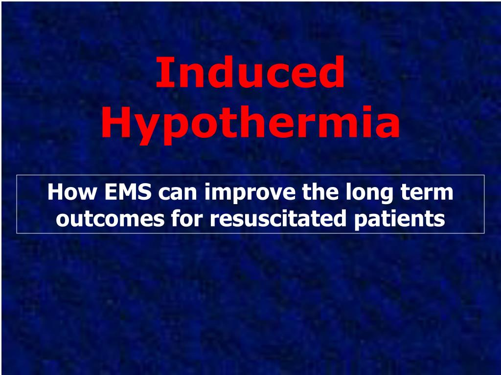 induced hypothermia l.