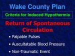 wake county plan39