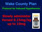 wake county plan44