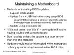 maintaining a motherboard28