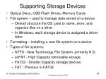supporting storage devices