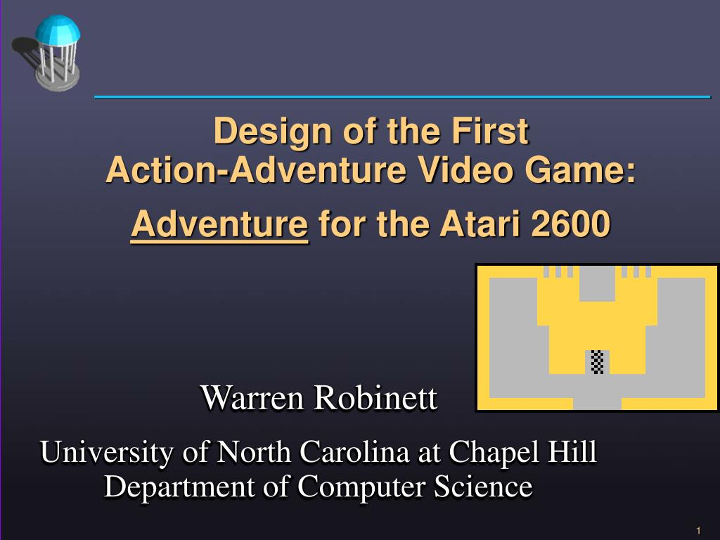 design of the first action adventure video game adventure for the atari 2600 l.