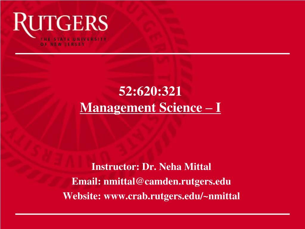 52 620 321 management science i l.