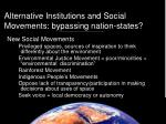 alternative institutions and social movements bypassing nation states16