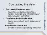 co creating the vision