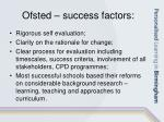 ofsted success factors