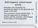 shift happens school based activity