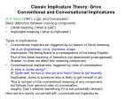 classic implicature theory grice conventional and conversational implicatures
