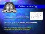 civilian monitoring