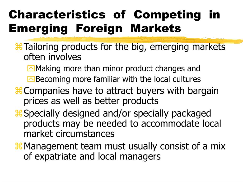Strategy options for competing in foreign markets