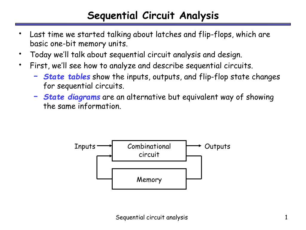 sequential circuit analysis l.