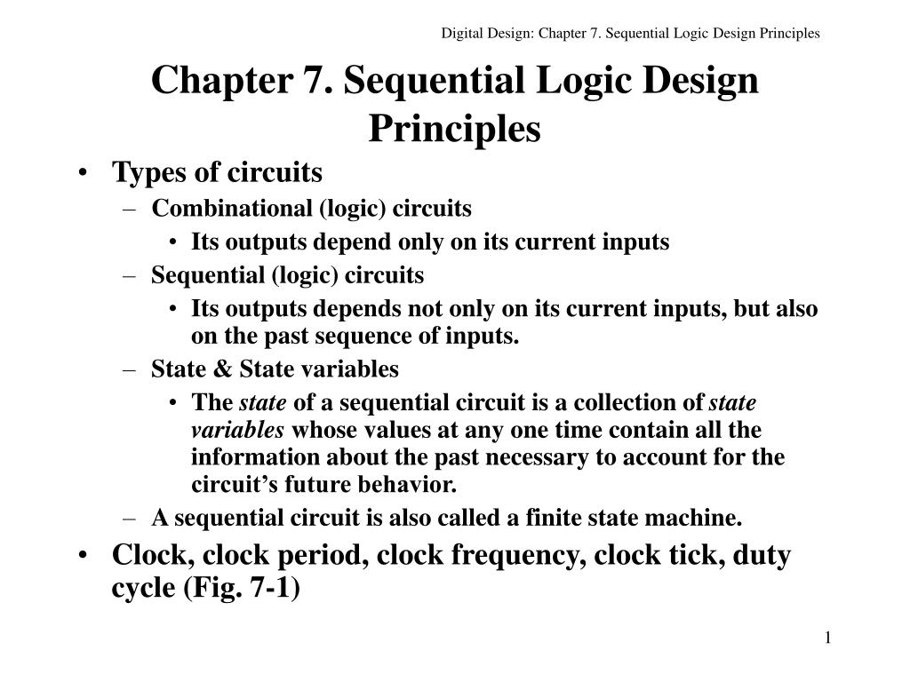 chapter 7 sequential logic design principles l.