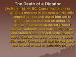 the death of a dictator28