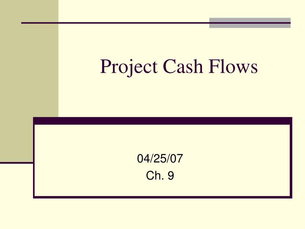 project cash flows l.