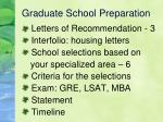 graduate school preparation