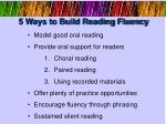 5 ways to build reading fluency