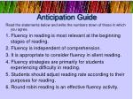 anticipation guide