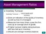 asset management ratios32