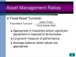 asset management ratios33