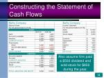 constructing the statement of cash flows