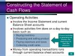 constructing the statement of cash flows15