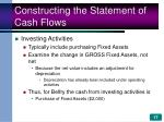 constructing the statement of cash flows17