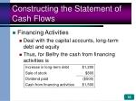 constructing the statement of cash flows18
