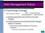 debt management ratios39