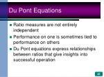 du pont equations