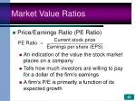market value ratios