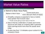 market value ratios44