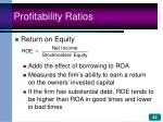 profitability ratios42