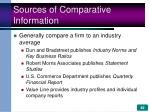 sources of comparative information
