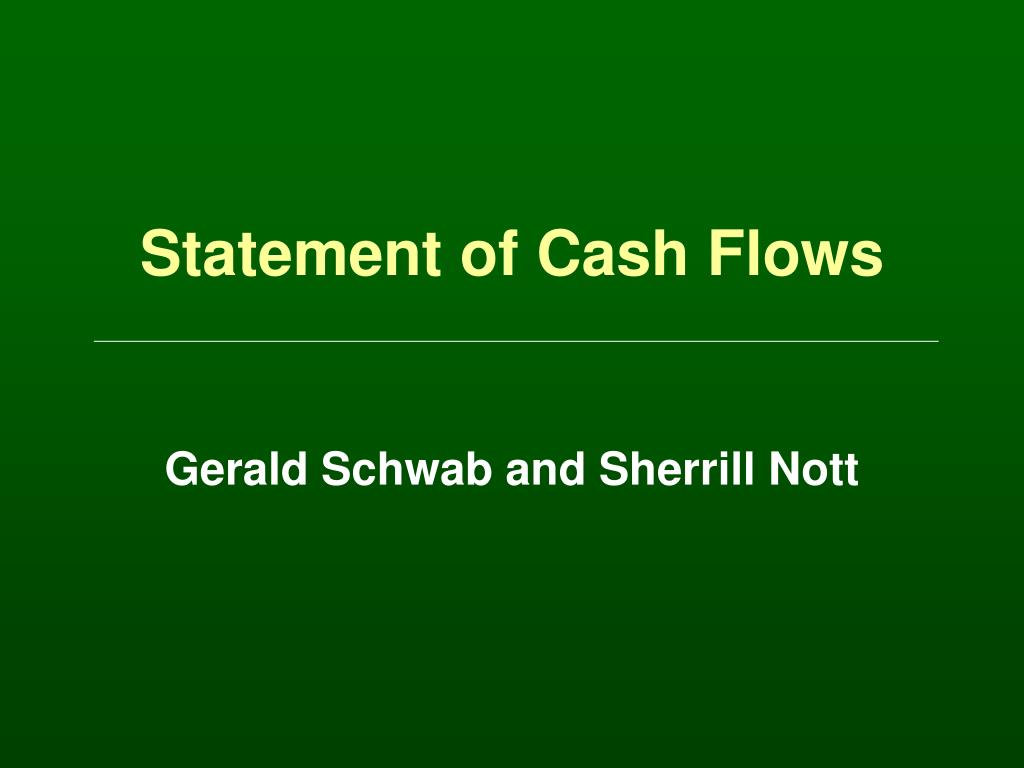 statement of cash flows l.