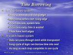 time borrowing
