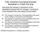 cq2 interactive conceptual example basketball vs flower pot drop