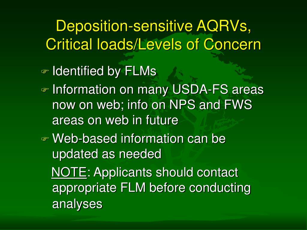 Deposition-sensitive AQRVs,